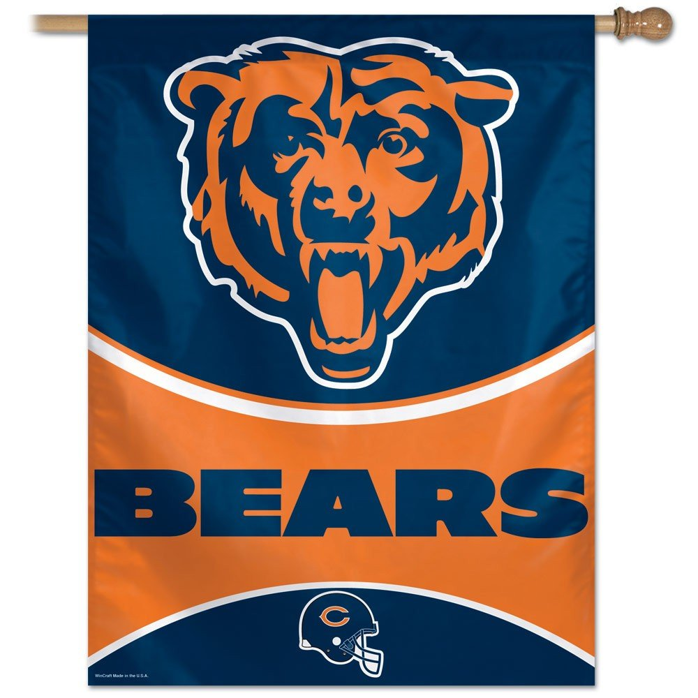 Chicago bears bathroom accessories - Amazon Com Nfl Chicago Bears 27 By 37 Inch Vertical Flag Outdoor Flags Sports Outdoors