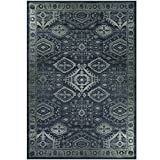 Maples Rugs Area Rugs, [Made in USA][Georgina] 7' x 10' Non Slip Padded Large Rug for Living Room, Bedroom, and Dining Room - Navy Blue/Green