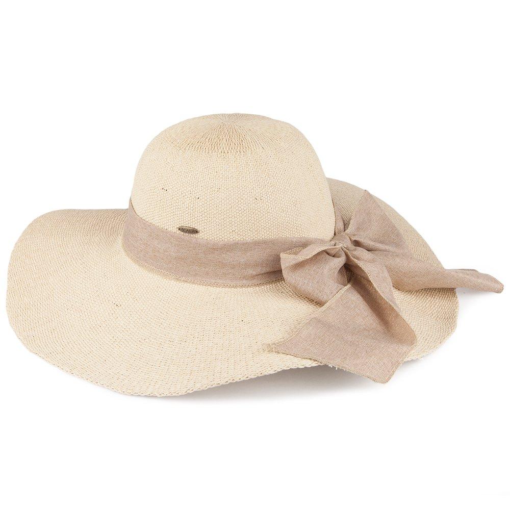 Village Hats Chapeau Été à Bord Large et Noeud en Lin Naturel Scala -  Ajustable  Amazon.fr  Vêtements et accessoires 82ee4f1e4f6