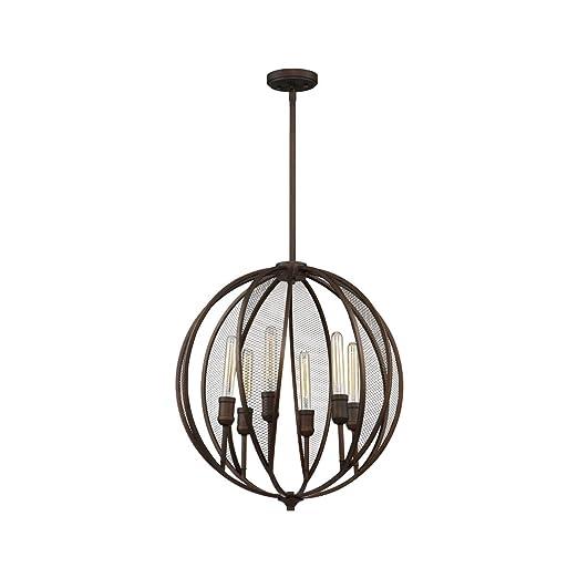 Amazon.com: Chandeliers - Lámpara de techo con 6 bombillas ...