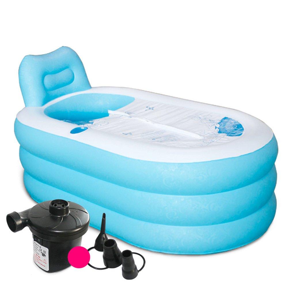 Vasca da bagno gonfiabile Thicker adulti vasca vasca pieghevole barili di plastica da bagno botti di Bath botti di Bath (Dimensione Colore facoltativo) (Colore : A, dimensioni : M) ZHANGRONG