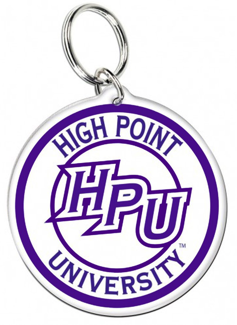 WinCraft Bundle 2 Items: High Point University Panthers 1 Premium Badge Reel and 1 Key Ring