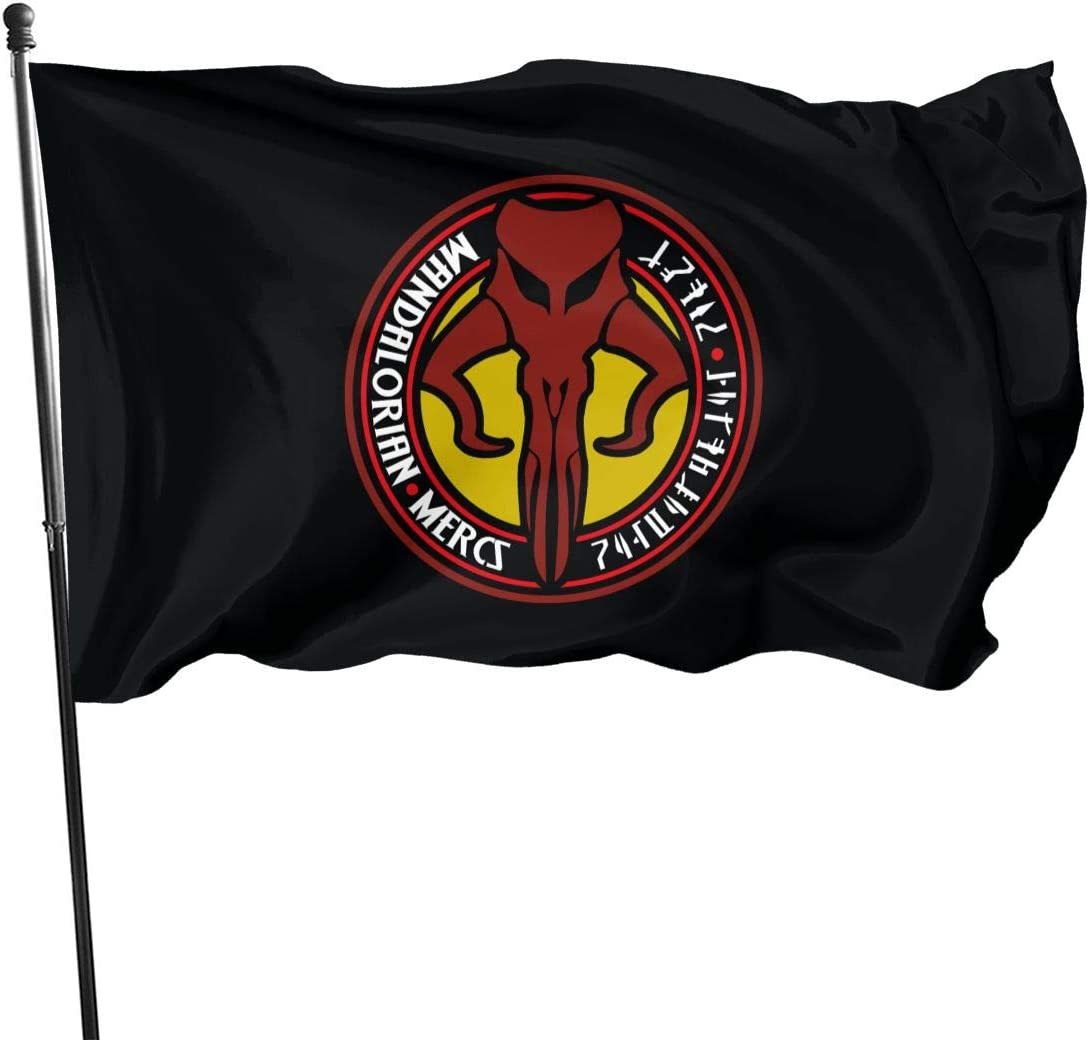 FDFHP-TIUEA Large Mandalorian 3X5 Ft Flag for Outdoor Indoor Home Decor