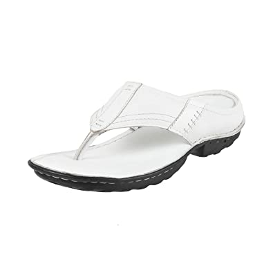 28ec54ff9e5 Metro Men s White Leather Thong Sandals-10 UK India (44 EU)  (16-8875-16-44)  Buy Online at Low Prices in India - Amazon.in