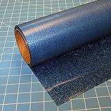 Blue Glitterflex Ultra 19.5'' x 10' (10 feet), Heat Transfer Vinyl, Glitter, HTV