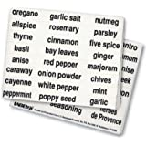 Kitchen Spice Labels (Black) by Labeleze