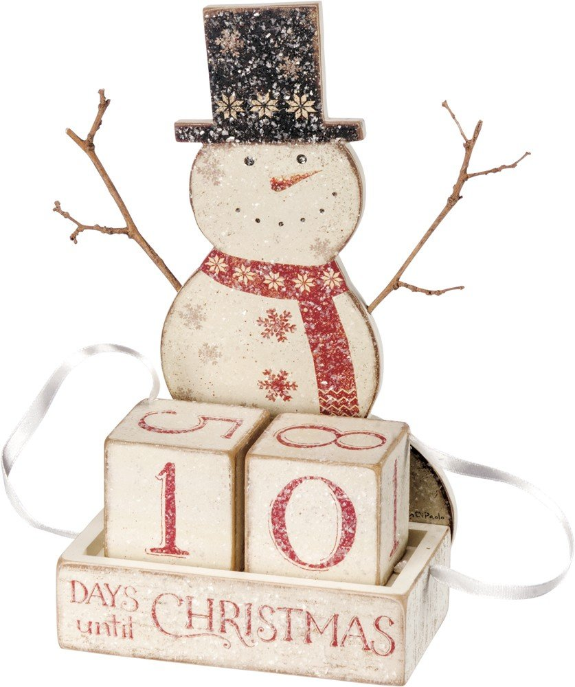 Primitives by Kathy Nordic Countdown Block, Snowman 36081