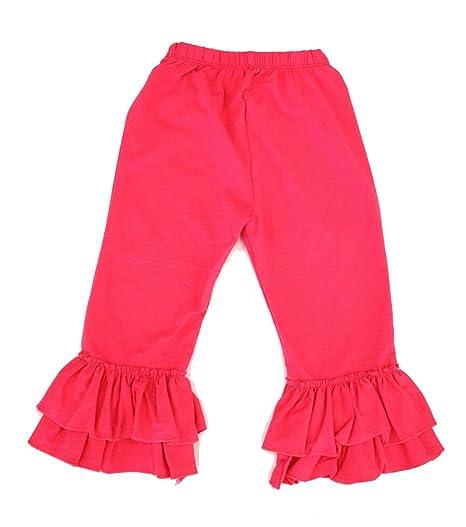 fcc716517 Amazon.com: Cutie Baby Toddler Girls Long Ruffle Pants, Ruffle Capris from  12 months-5T: Clothing