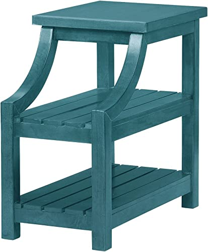 Powell Iris Side Table teal