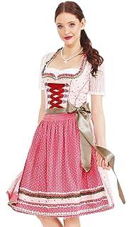 2b73accd302ff4 Krüger MADL Damen Dirndl Euphoria - Rot 60 cm - Wundervolles Trachten Kleid  mit floralem Design