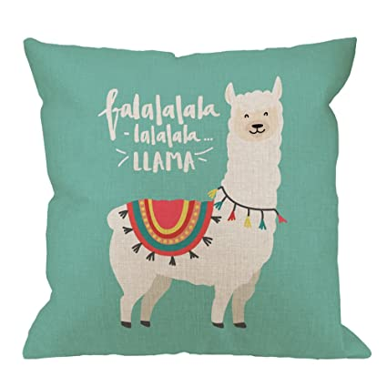 Amazon HGOD DESIGNS Fa La La Llama Decorative Throw Pillow Mesmerizing Designer Decorative Throw Pillows