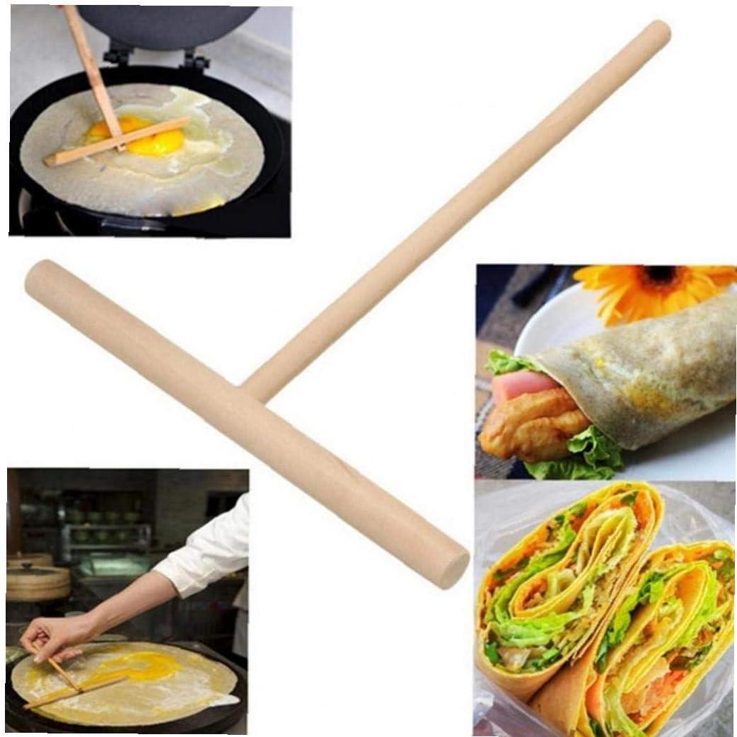 1pc Pancake Cake Kit Batter Spalmatore Casa Strumento di Cucina in Legno Forma Crepe Maker T