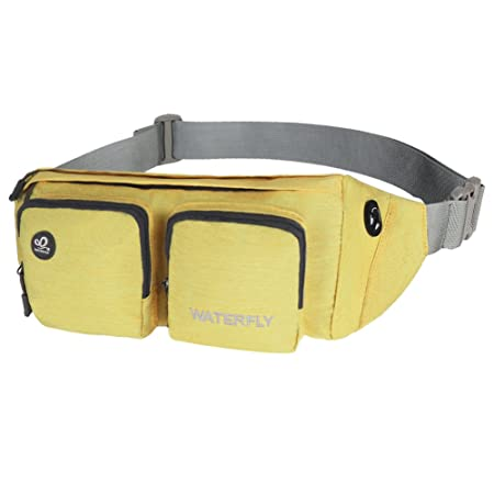 79f6eb7f87b9 WATERFLY Fanny Pack Water Resistant Waist Bag Hip Pack for Men Women Travel  or Running Walking