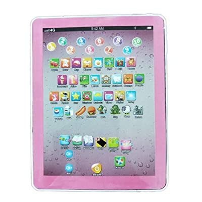 redcolourful Tablet Pad Computer for Kid Children Learning English Educational Teach Toy Gift Russian (Pink) Creative Gifts: Home & Kitchen