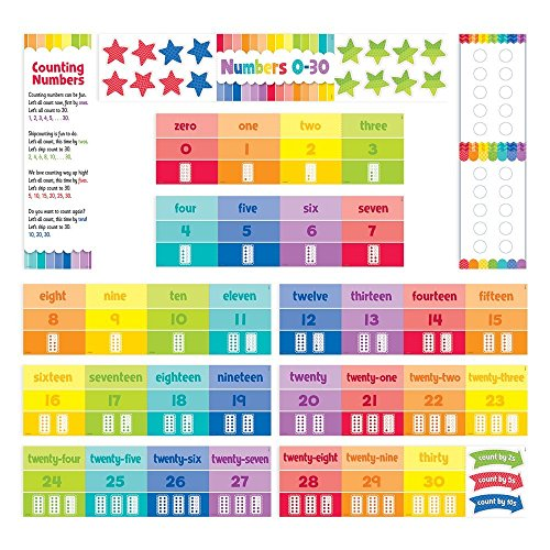 Creative Teaching Press Painted Palette Numbers 0-30 Mini Bulletin Board, Gr. K-1 (0601) ()
