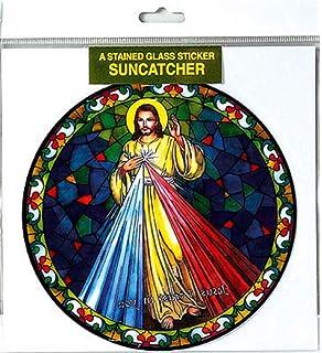 "Miraculous Mary suncatcher stained glass window sticker reusable 6/"" sun catcher"
