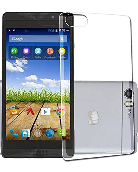 newest 6937e 78c9e ECellStreet Silicone Soft Back Cover for Micromax Canvas Fire 4G+ Q412  (Transparent)