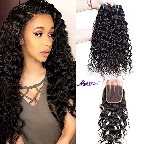 3/4 Bundles With Closure Mqyq #27 Honey Blonde 3 Bundles Malaysian Curly Human Hair With Lace Closure Kinky Curly Human Hair Bundles With Lace Closure Promoting Health And Curing Diseases Human Hair Weaves