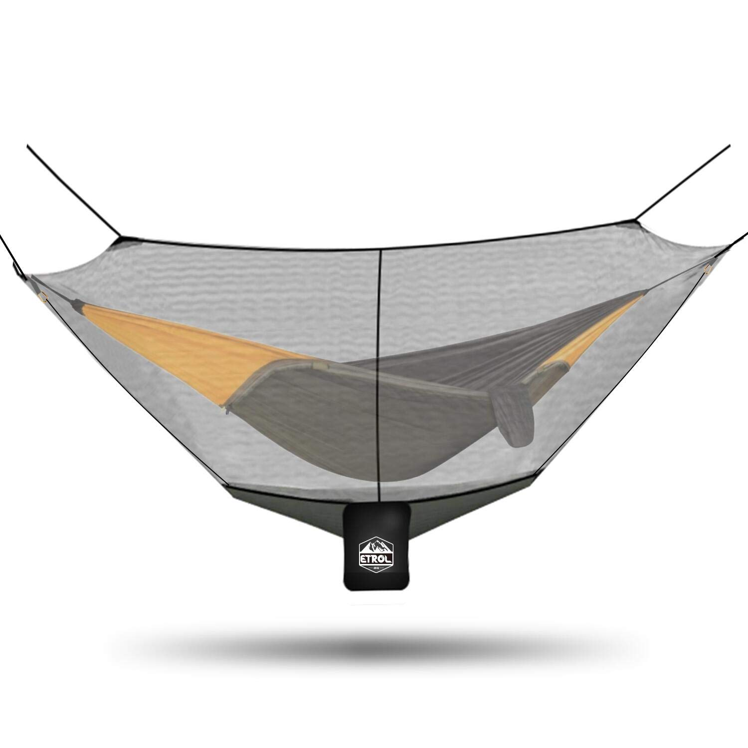 ETROL Hammock Mosquito Net, Universal Polyester Bug Mesh Net, Easy Setup Anti – Mosquitos and Insects with 360 Protection for Health and Safety, Keep in Peace, Fits All Hammocks, 10FT