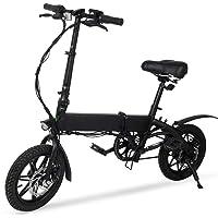 "M MEGAWHEELS Bicicleta Eléctrica, Megawheels 14"" Ultra Ligero Plegable Ciudad Ebike, 3 Modos, 15 Millas Gama"