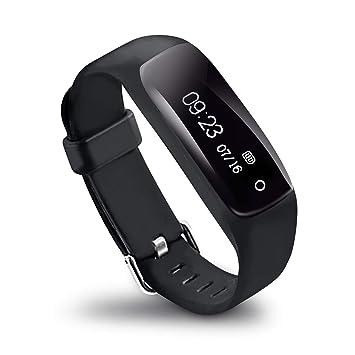 LifeVit AT-510HR - Pulsera de Actividad Inteligente, Pulsómetro, Resistente al Agua, Monitorización Sueño, Notificaciones, para iOS y Android: Amazon.es: ...