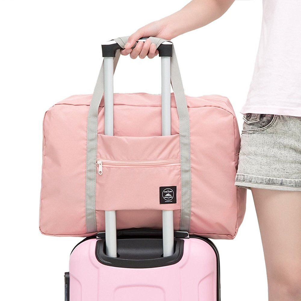 Okdeals Travel Lightweight Foldable Waterproof Carry Storage Luggage Duffle Tote Bag (Pink) by Okdeals (Image #1)