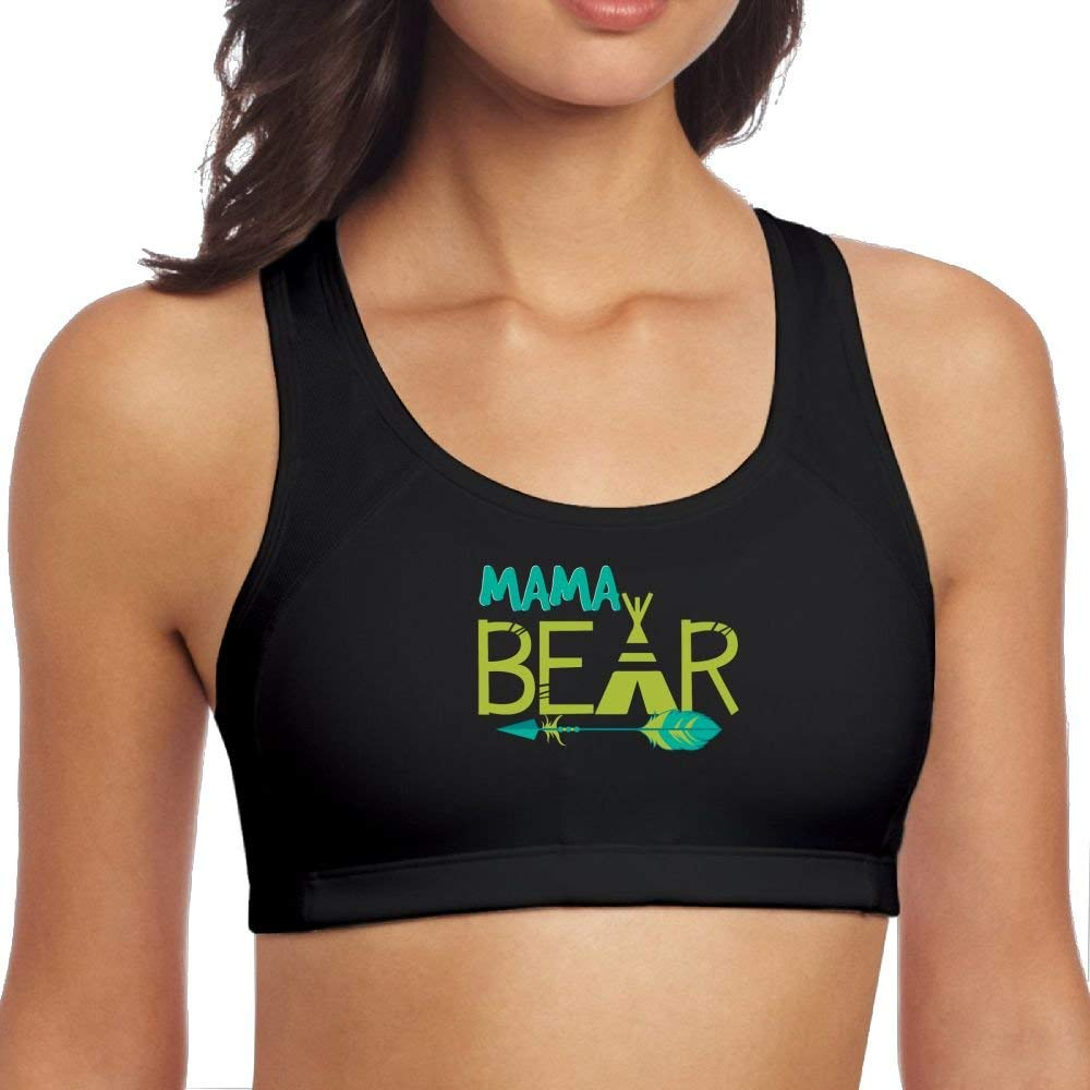 SCOTT CARROLL Mama Bear 2 Support High Sports with Gym Yoga Vest Bra for Womens
