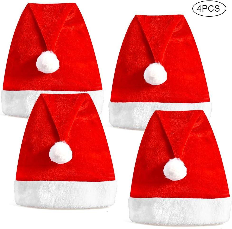 CHILD SIZE Unisex Festive Father Christmas Santa  Hat Headband Party UK SELLER