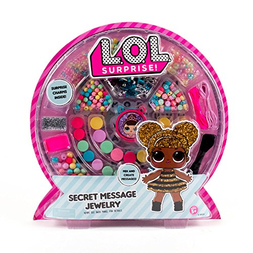 L.O.L. Surprise! Secret Message Jewelry by Horizon Group Usa, DIY Secret Jewelry Making Kit, Over 400 Beads & Charms Included, Multicolored ()