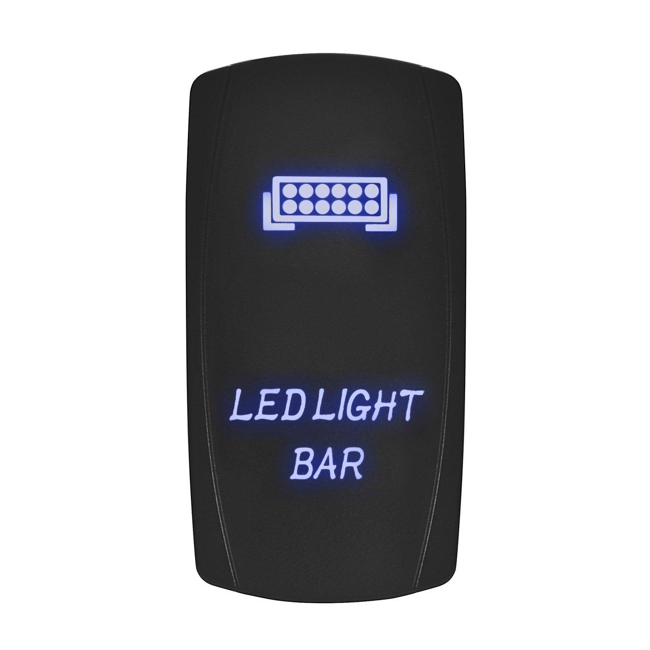 Eyourlife Interrupteur à Bascule Tableau De Bord Contacteurs LED 12V-24V Lumière Bleue pour Voiture Electronique - Interior Light