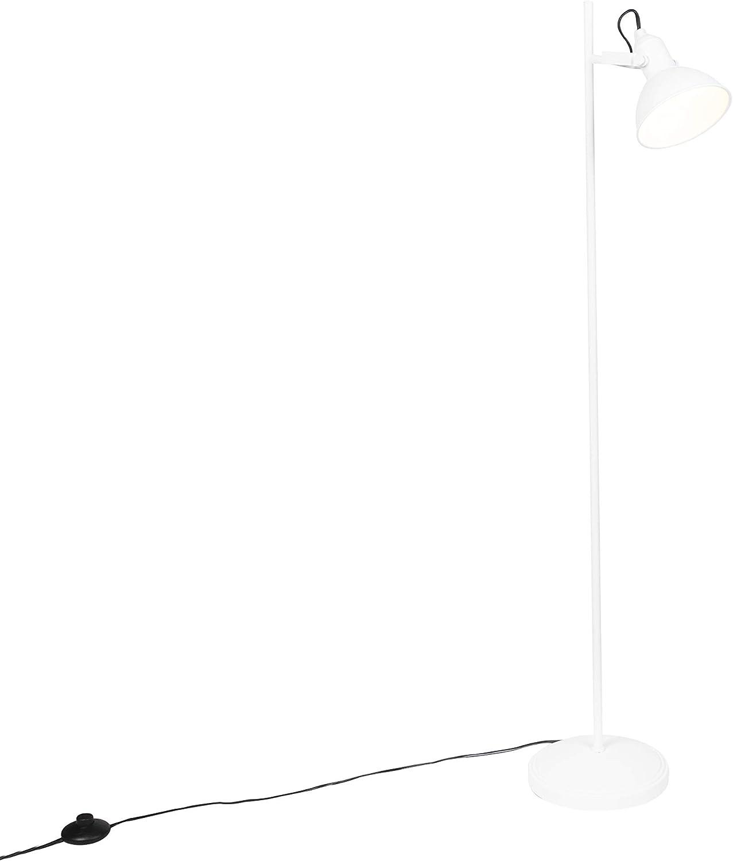 Tommy Acier Dor/é Oblongue//Rond E14 Max 1 x 28 Watt//int/érieur//Salon QAZQA Industriel Lampadaire//Lampe de sol//Lampe sur Pied//Luminaire//Lumiere///Éclairage Art D/éco or 1 lumi/ère