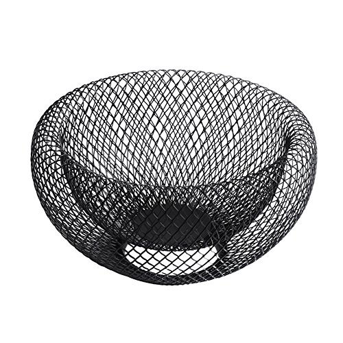 cheerfullus Fruit Basket,Nordic Creative Double Layer Iron Art Fruit Bowl Dried Fruit Snack Tray Storage Holder,Black