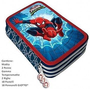 Estuche Plumier 3 Cremalleras 3 Pisos Spiderman Carioca Clamshell: Amazon.es: Juguetes y juegos