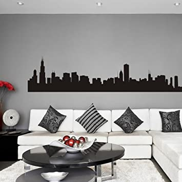 Amazon.com: Vinyl Chicago Wall Decal Chicago City Wall Decor ...