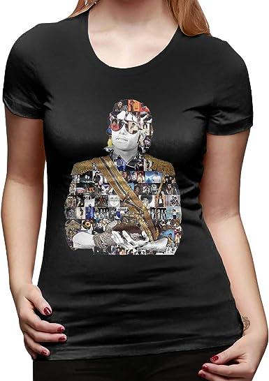Camiseta Casual Mujer Dance King Michael Jackson Cool Tshirts Negro: Amazon.es: Ropa y accesorios