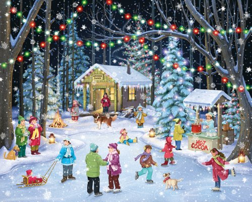 Woodland Skaters Jigsaw Puzzle 1000 Piece for the Whole Family