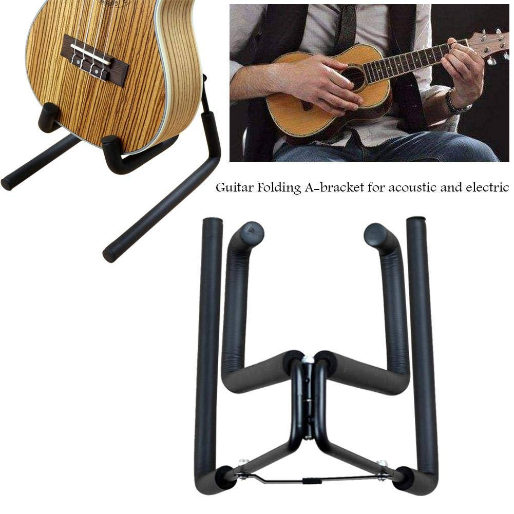 Lijuan Qin Folding Guitar Holders Hooks Stands, A-Bracket Guitar Display Hangers for Acoustic and Electric by Lijuan Qin