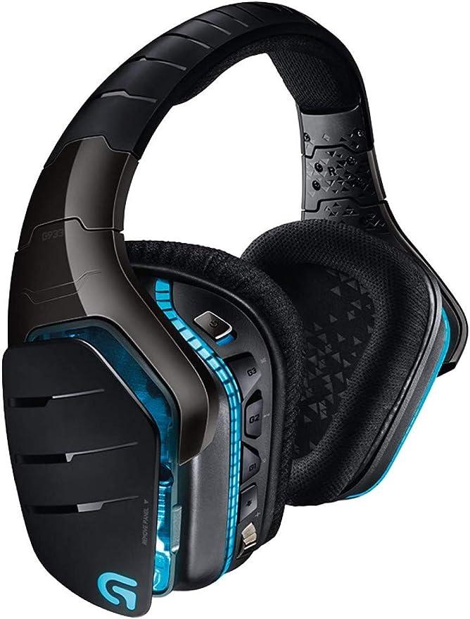 Logitech G933 Artemis Spectrum Auriculares Gaming Inalámbricos, DTS Headphone:X 7.1 Surround, Transductores 40mm Pro-G, 3.5 mm Jack, Lightsync RGB, Teclas G, PC/Mac/Xbox One/PS4/Nintendo Switch
