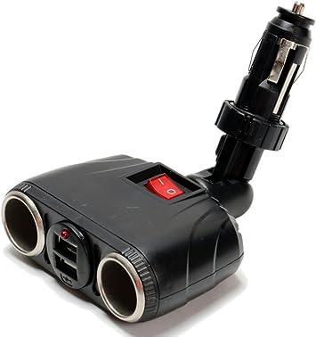 Zigarettenanzünder Steckdose Mit Usb Adapter 8a Stecksystem Gelenk 2 X Usb 12v 24v Für Auto Lkw Wohnwagen Busse Auto