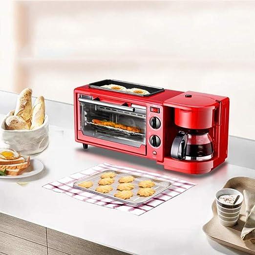 KKMBJ tostadora Máquina de desayuno casera 3 en 1 Cafetera Sartén ...