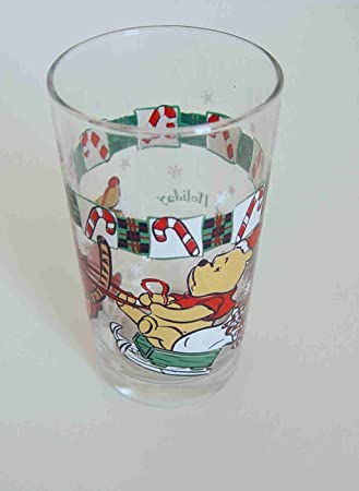 disney tigger and winnie the pooh a 100 acre holiday christmas drinking glass - Christmas Drinking Glasses