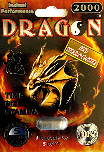 DRAGON 2000 Premium Male Sexual Performance Enhancer -12 Capsules