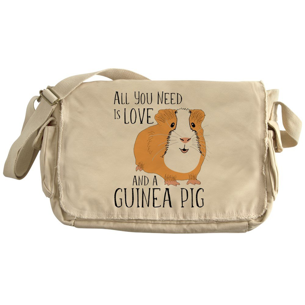 CafePress - All You Need Is Love And A Guinea Pi - Unique Messenger Bag, Canvas Courier Bag