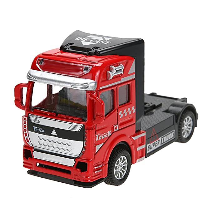 Amazingdeal Pull Back Alloy Car Toy, 1:32 Scale Alloy Truck Head Racing Vehicles