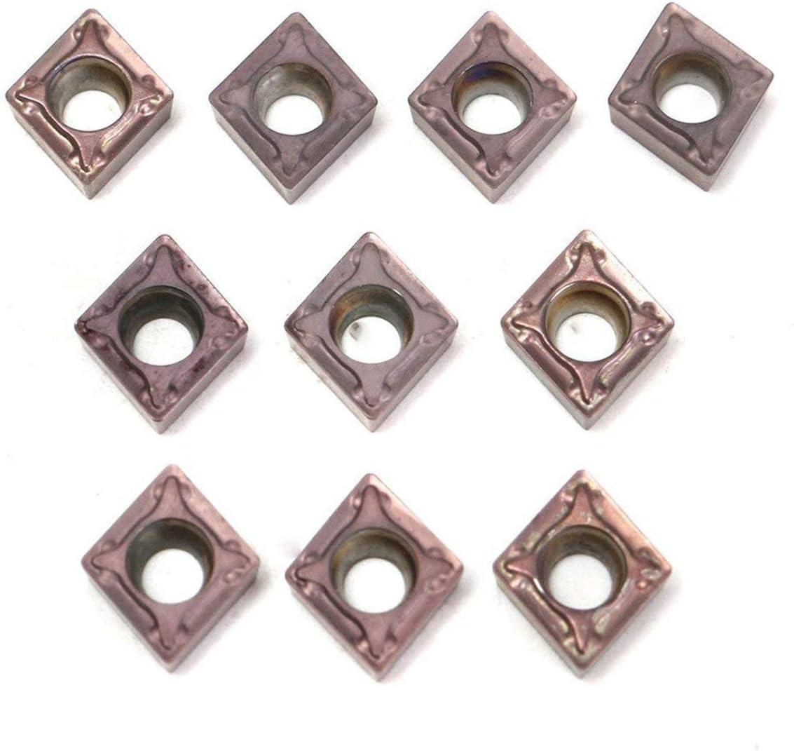 10 stücke Hartmetalleinsätze CCMT060204 CCMT0602 Langlebig Industriell