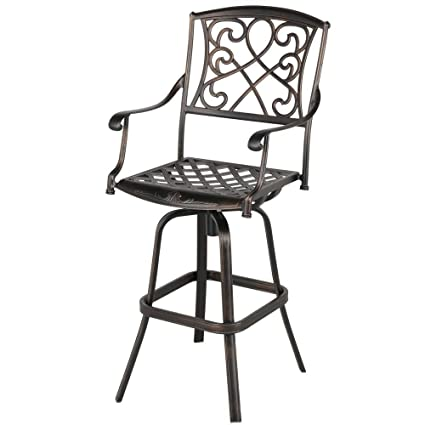 Admirable Amazon Com Topeakmart Extra Wide Outdoor Patio Chair Pub Pdpeps Interior Chair Design Pdpepsorg
