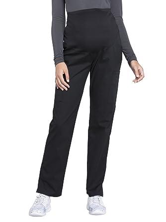 6cb4368abef Cherokee WW Professionals WW220 Maternity Straight Leg Pant Black XXS