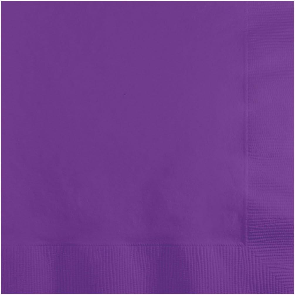 Creative Converting Amethyst Beverage Napkin, 50 Count, Purple, Pieces
