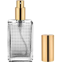 Perfume Atomizer - Cologne Bottle - Empty Refillable Glass Spray Bottles with Gold Sprayer - 1.7oz/50ml