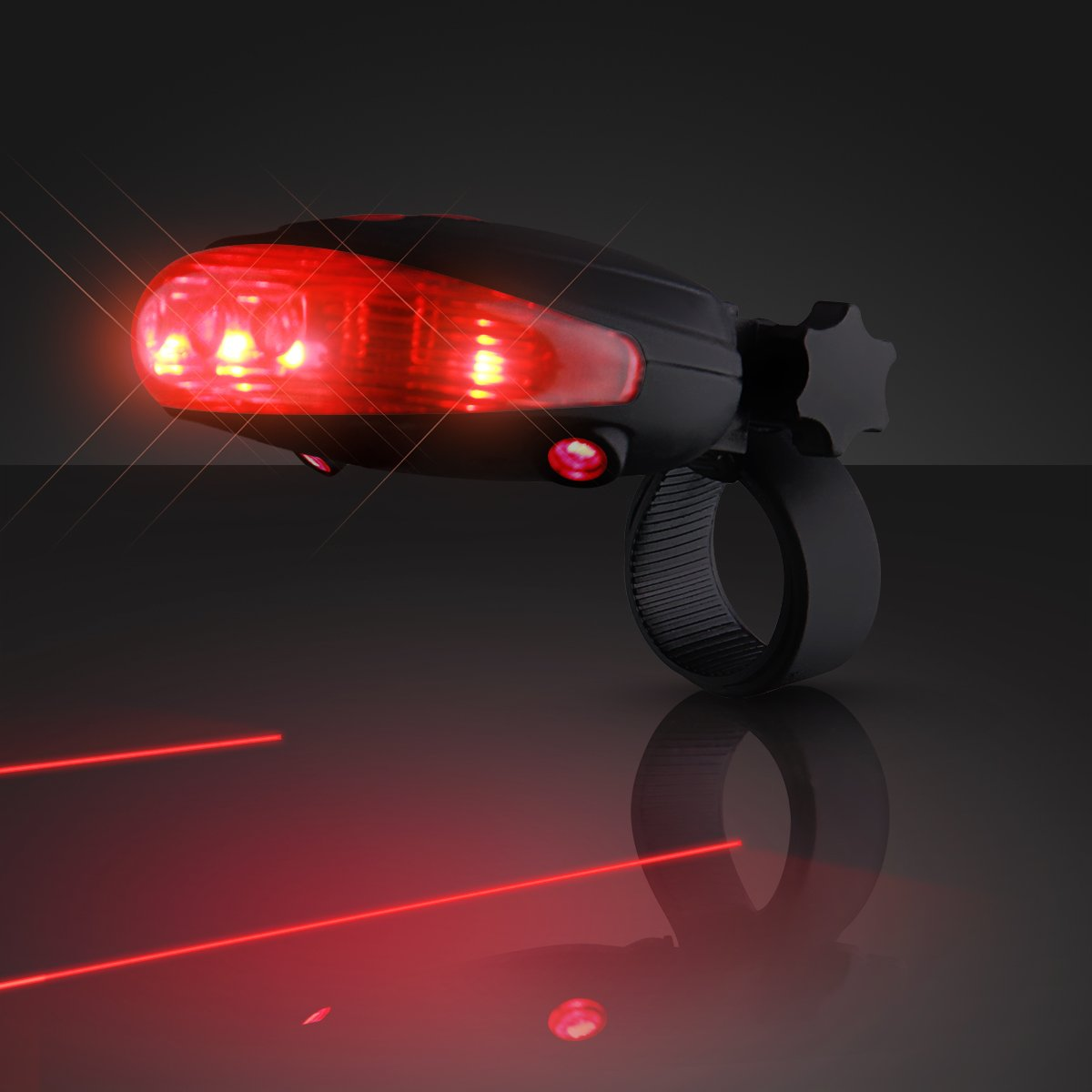 Red Laser Tail Light with Bike Lane Projection (Set of 12)